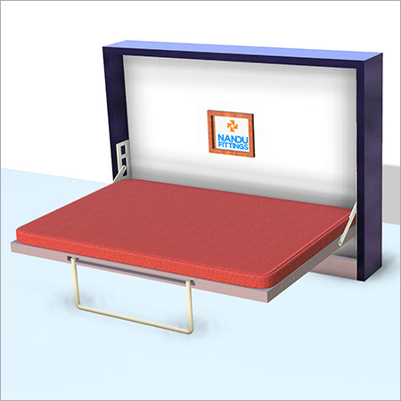 Double Horizontal wall bed mechanism with regular Leg