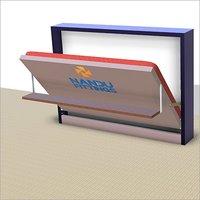 Double Horizontal wall bed mechanism with Shelf Type Leg