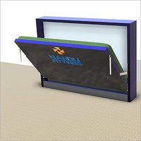 Double Horizontal wall bed mechanism with Flat Bar Leg