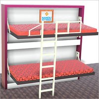 Bunk Bed with Ladder and Railing