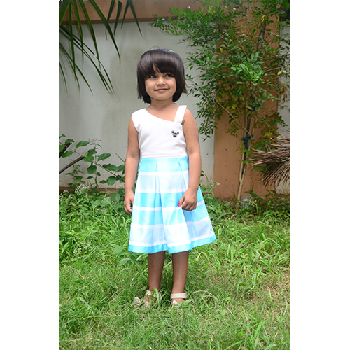 Girls Sleeveless Printed Frock