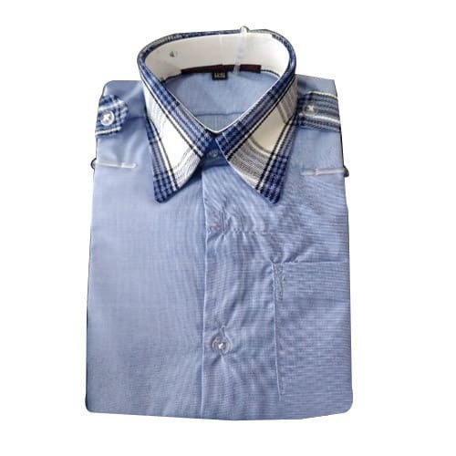Collar Neck School Uniform Shirt