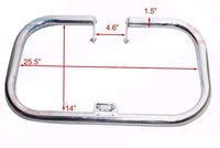 Royal Enfield Classic Standard Crash Bar Leg Guard Heavy Duty Steel Chrome