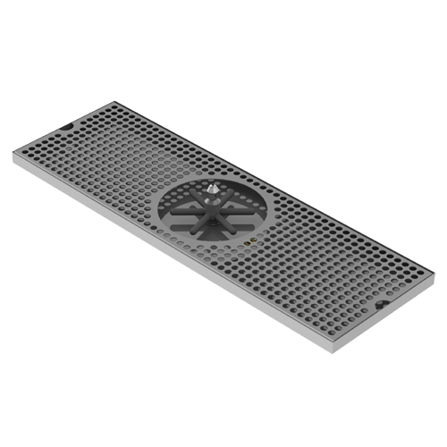 "24â€Â³ X 8â€Â³ Center Spray Rinser Drip Tray â€Â"" Brushed Stainless"