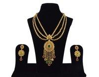 Latest Bollywood Classic Stylish Antique Reverse American Diamond AD Necklace Set / Neck Piece / Mala