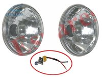 Suzuki Sj410 Gypsy Headlight Bezel Set With 7'' Headlamp Sealed Beam Bulb