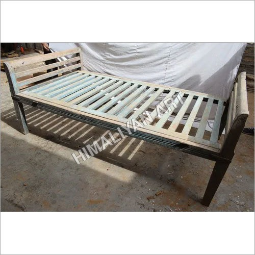Polished WOODEN BED
