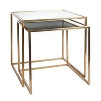 Set Of Nesting Table With Metallic Colours