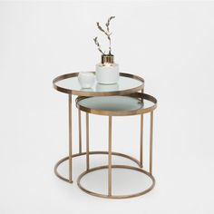 Nesting Table With Granite top