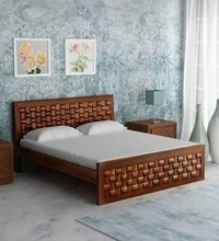 LifeEstyle Solid Wood King Size Bed