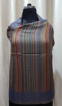 Fine Wool Reversible Stripes Stole