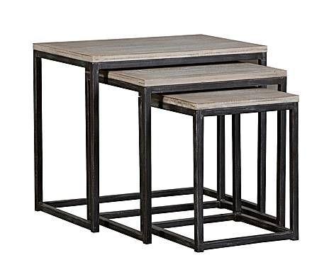 Iron Rod Nesting Table