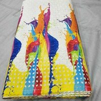 Printed Border Work Fabric