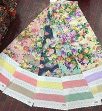 Printed Border Work Fabric
