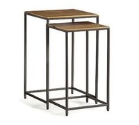 Industrial Nesting Tables With mango Wod top