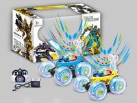Transformer r/c stunt rolling car w/ light & music, battery incl.