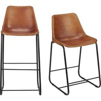 Iron Pipe & Leather Seat Cafeteria Chair