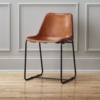 Dining Chair with Leather Coated Seat