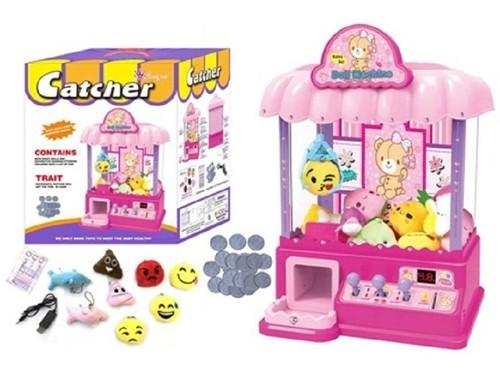 doll catcher machine w/ 8xdoll, 1xUSB line, 18xcoin, 1xsticker