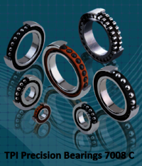 TPI Precision Bearings 7008 C