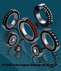 TPI Ball Screw Support Bearings BS 35 tac 72