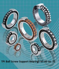TPI Ball Screw Support Bearings BS 40 tac 72
