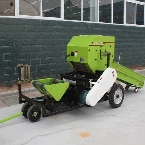 China corn silage baler machine combined baler wrapper
