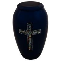Blue Cross Cremation Urn