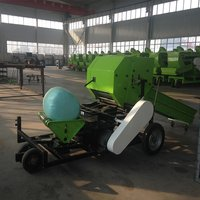 Silage baler and wrapping machine round silage bales maker