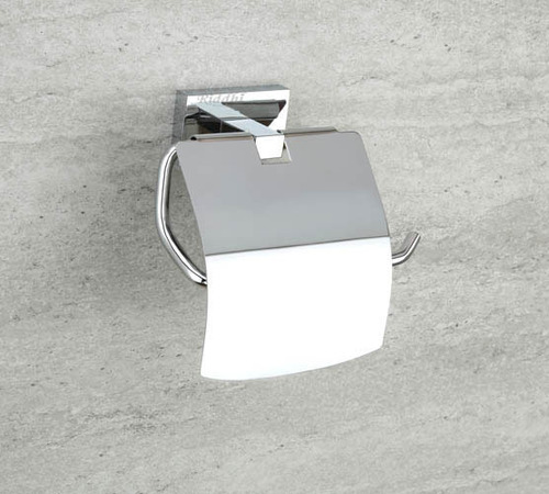 SS Finish Tissue Holder With Lid