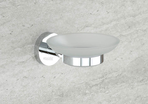 Chrome Plated Glass Soap Dish