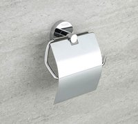 Chrome Plated Tissue Holder With Lid