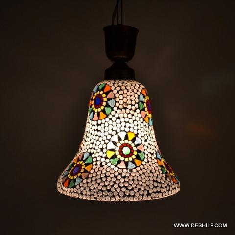 DECOR MOSAIC DESIGN GLASS WALL HANGING LAMP