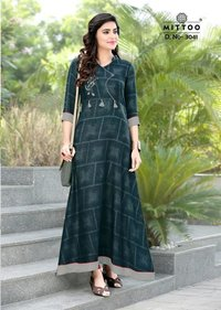 Anarkali Long  Kurtis