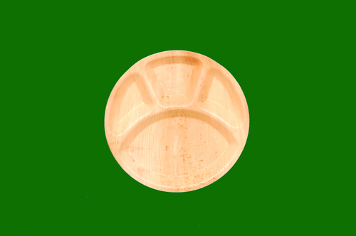 Areca Round Plate 4 Compartment 12inch