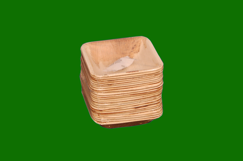 Areca Square Bowl Shrink pack with Silica Gel