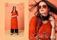 Printed Kurtis With Plazo