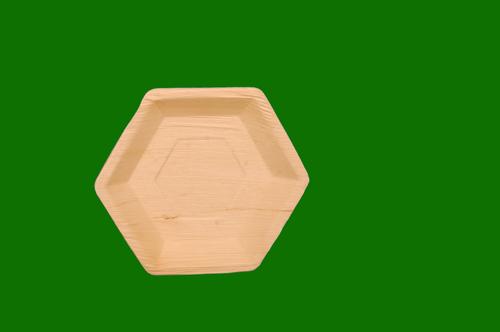 Areca Hexagon Plate 9.5inch