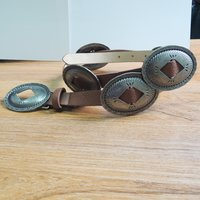 20MM Leather Belt with Large Ornament for Decoration (#009)