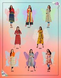 Latest Designer Rayon Printed Kurtis