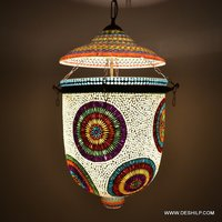UNIQUE WHITE MOSAIC WALL HANGING