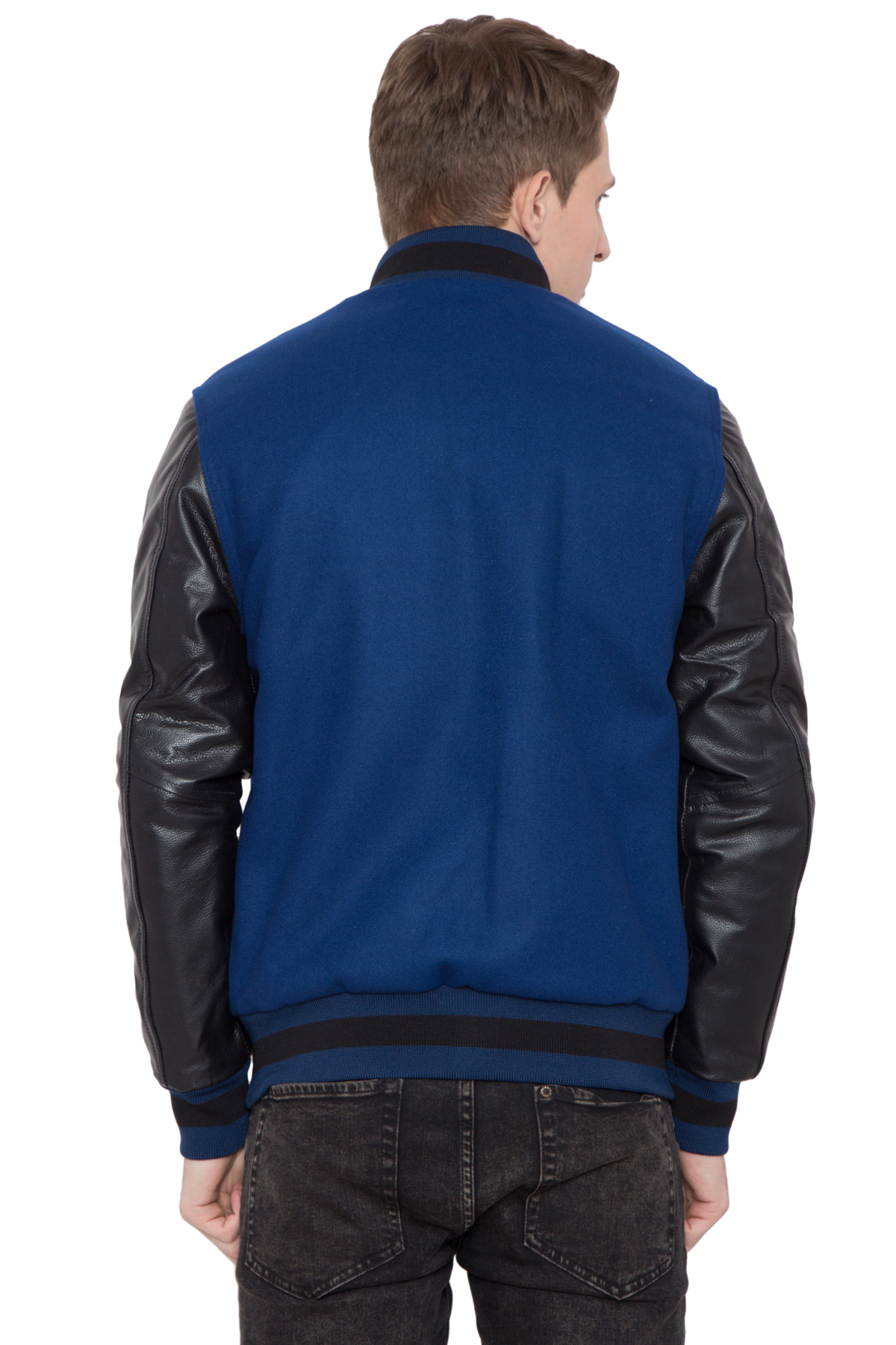 High Royal Wool Leather Varsity Jacket