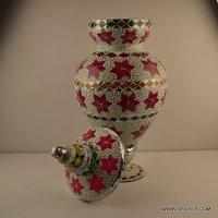 GLASS MOSAIC BIGGER JAR WITH LID
