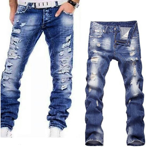 Mens Denim Ripped Jeans