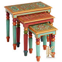 3 Painted Table Set