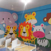 Kindergartan Room Wall Painting