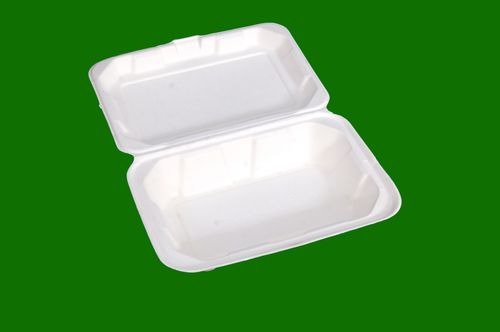 Sugarcane Bagasse E Clamshell Box 10 x 6.5 Bottom and 9.5 x 6 Top