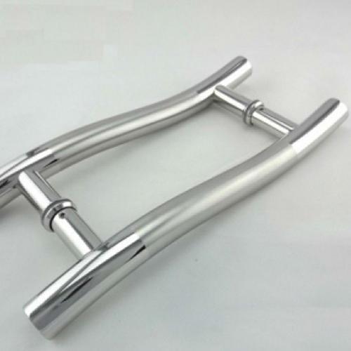 Stainless Steel Brush Glass Door Handle