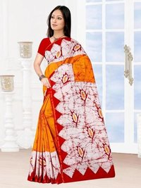 Block Print Cotton Saree