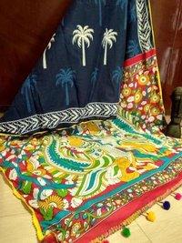 Block Print Cotton Fancy Saree